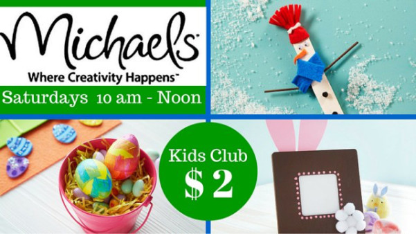 Kids club craft at michaels multiple locations for Michaels crafts job application